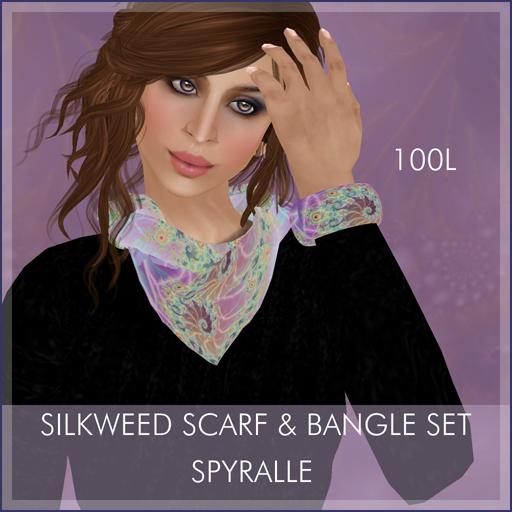 Spyralle Silkwood Scarf & Bangle Set for FFL