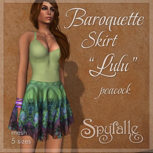 Spyralle Baroquette Lulu Skirt - Peacock