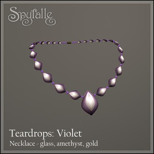 Spyralle Teardrops Necklace - Violet